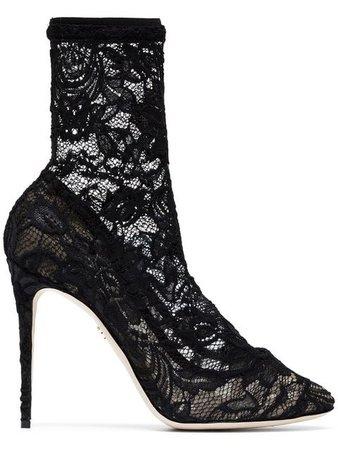 Dolce & Gabbana Sock-Boots Aus Spitze - Farfetch