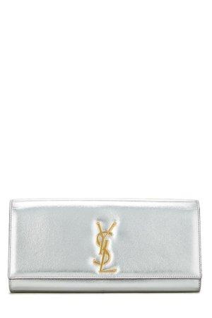 Silver YSL wallet