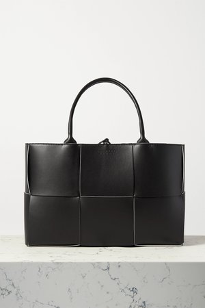 Black Arco medium intrecciato leather tote | Bottega Veneta | NET-A-PORTER