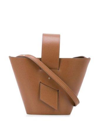 Carolina Santo Domingo Amphora Mini Leather Tote AMPHORAMINI Brown   Farfetch
