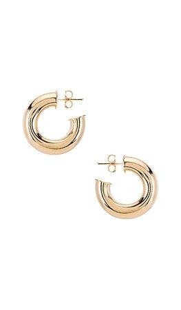 joolz by Martha Calvo Donut Hoop Earrings in Gold   REVOLVE