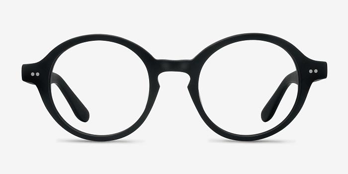 Aprem   Matte Black Acetate Eyeglasses   EyeBuyDirect