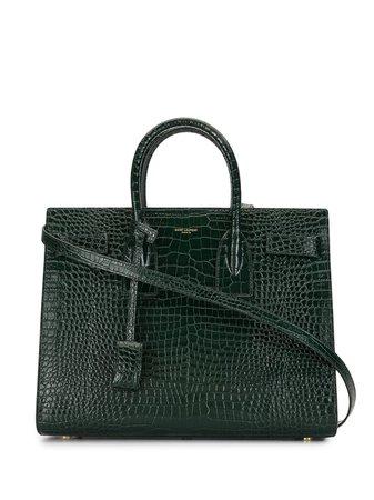 Saint Laurent snake-effect Tote Bag - Farfetch