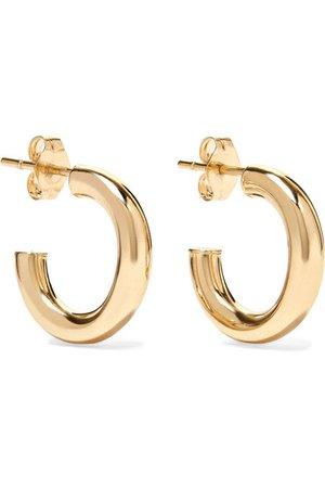 LOREN STEWART Chubbie Huggies 10-karat gold hoop earrings