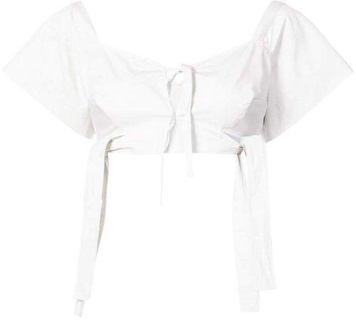 shortsleeved cropped blouse