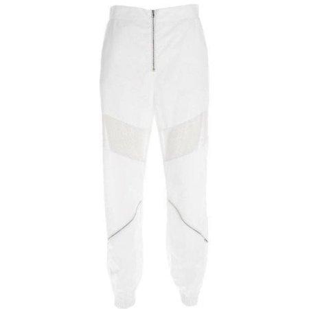 White Mesh Insert Pants - Own Saviour