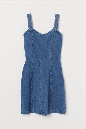 Denim Dress - Denim blue - Ladies   H&M US