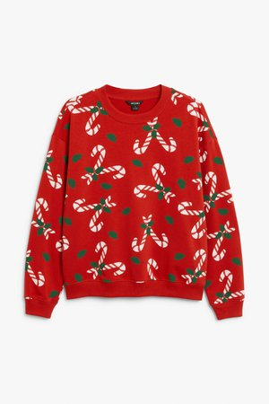Christmas sweater - Candy cane print - Christmas jumpers - Monki