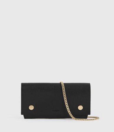 ALLSAINTS US: Womens Albert Leather Wallet (black)
