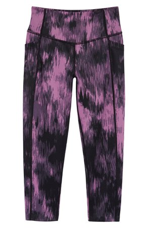 Zella Girl Kids' Live In High Waist Crop Pocket Leggings (Little Girl & Big Girl) | Nordstrom