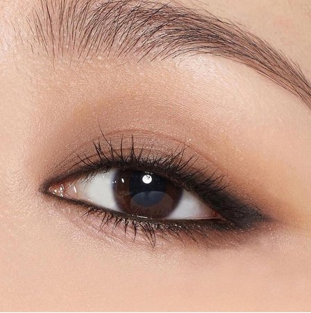 brown Korean eye makeup