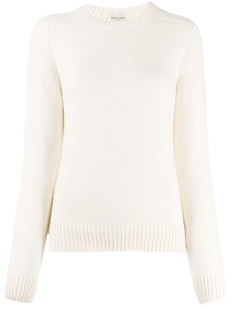 Saint Laurent, Relaxed Ribbed Detail Jumper Sweater