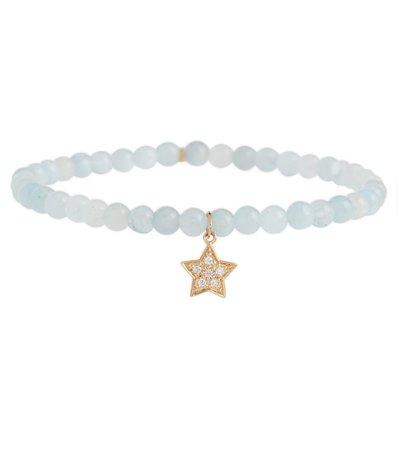 Sydney Evan - Star 14kt gold bracelet with diamonds | Mytheresa