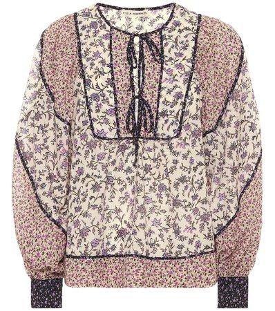 Ulla Johnson, Colette floral cotton-blend blouse
