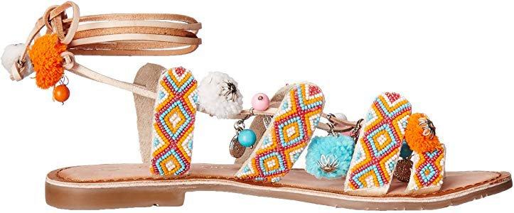 Amazon.com   Chinese Laundry Women's Posh Toe Ring Pom Pom Sandal, Cognac Leather, 8.5 M US   Flats