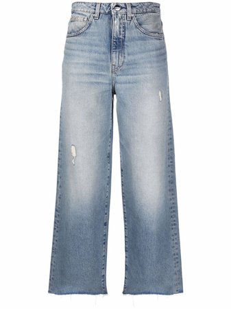 Shop Totême wide-leg organic jeans with Express Delivery - FARFETCH