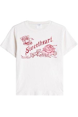 Sweetheart Printed Cotton T-Shirt Gr. M
