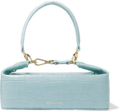 REJINA PYO - Olivia Croc-effect Leather Tote - Sky blue