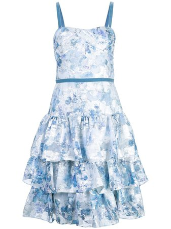 Marchesa Notte, flared floral dress