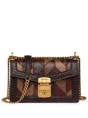 Miu Miu, Confidential Ayers Leather Shoulder Bag