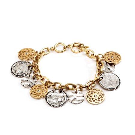 Just Jewelry Turrett Charm Bracelet