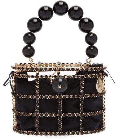 By Michela Panero - Holli Crystal Embellished Bag - Womens - Black