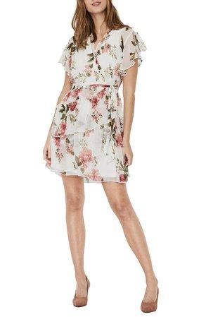 VERO MODA Lucca Faux Wrap Minidress | Nordstrom