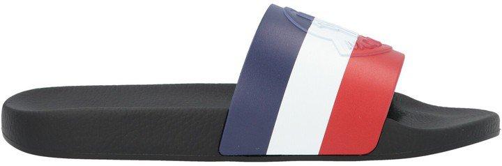 Striped Logo Embossed Slides