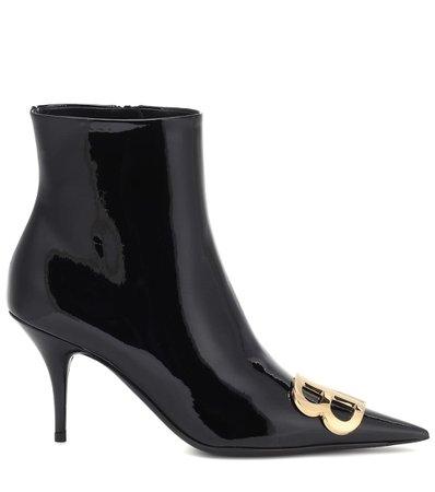 Bb Patent Leather Ankle Boots - Balenciaga | Mytheresa