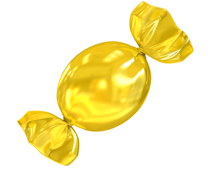 yellow lollipop candy
