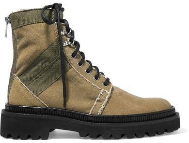 Ranger Canvas Ankle Boots - Army green