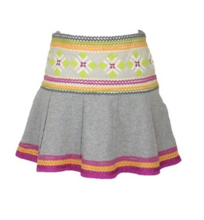 Free People Anthropology Jersey Knit Ric Rac Mini Skirt Womens 2 BOHO Hippie | eBay