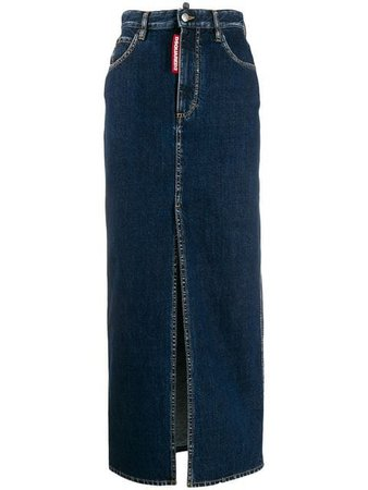 Dsquared2 long pencil denim skirt $440 - Buy Online AW19 - Quick Shipping, Price