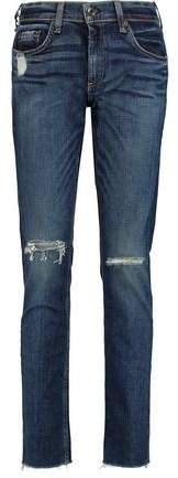 Dre Distressed Slim Boyfriend Jeans
