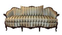 Vintage Carved Walnut French Style Sofa | Etsy