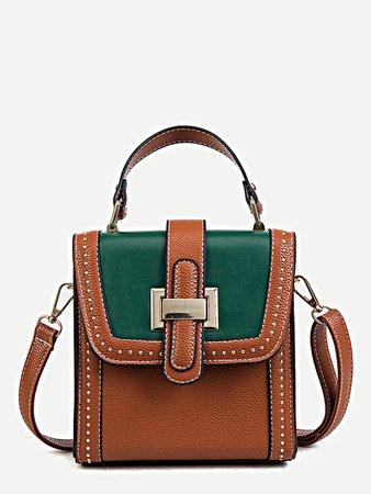 Buckle Detail Crossbody Bag