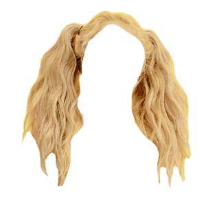 Blonde Pigtails Hair PNG