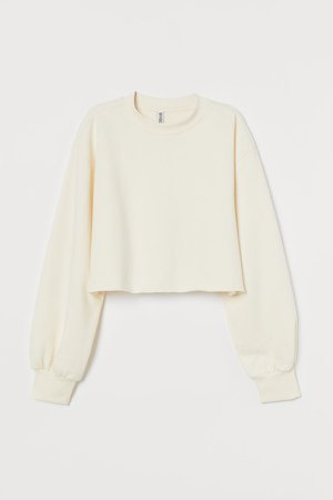 Cropped Sweatshirt - White