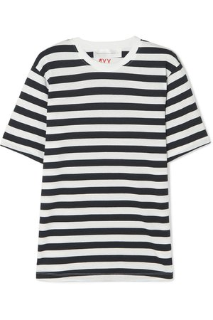 Victoria, Victoria Beckham | Striped cotton-jersey T-shirt | NET-A-PORTER.COM