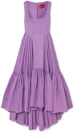 Haye Tiered Woven Midi Dress - Lilac