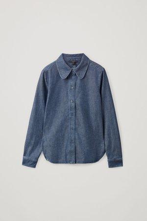 SHRUNKEN DENIM SHIRT - blue - Shirts - COS WW