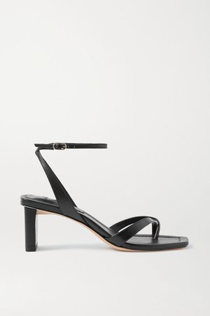 Nelly Leather Sandals - Black