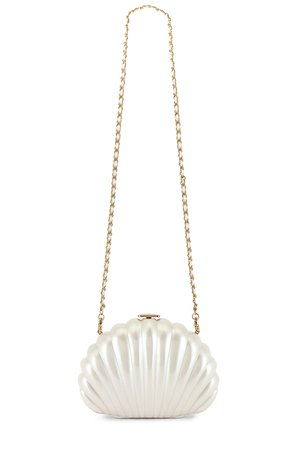 House of Harlow 1960 x REVOLVE Clam Shell Clutch in Pearl | REVOLVE