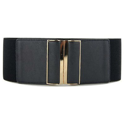 Belt Women s Elastic Belt Black Gold Buckle Wide Ladies Sexy Stretch Belt Zabardo