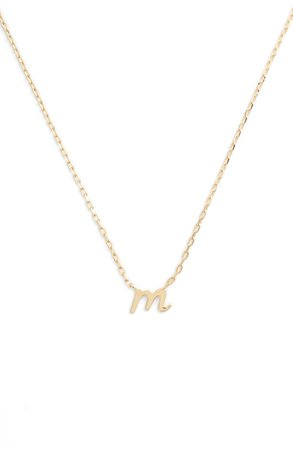 kate spade one in a million initial pendant necklace | Nordstrom
