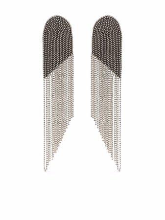 Fabiana Filippi ball-chain fringe earrings - FARFETCH