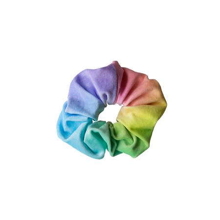 pastel rainbow scrunchie