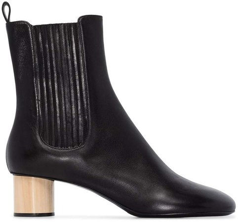black 45 Chelsea leather ankle boots