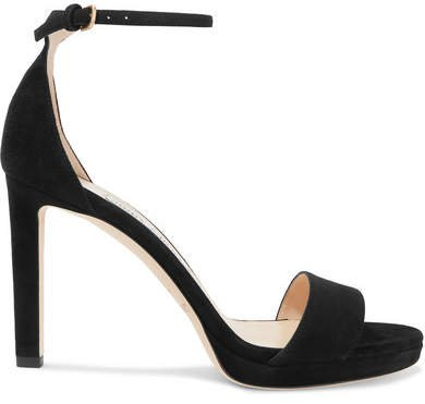 Misty 100 Suede Sandals - Black