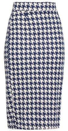 Jaycee Houndstooth Stretch-jersey Pencil Skirt